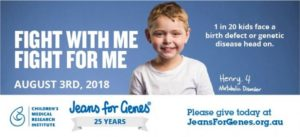 Jeans for Genes Day – 3 August 2018
